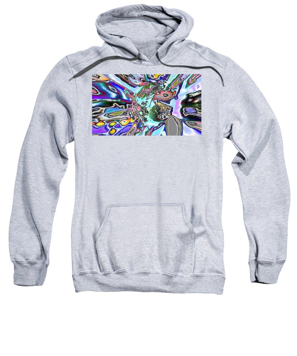 Digital Art Sweatshirt featuring the digital art Abstract 6 by Belinda Cox
