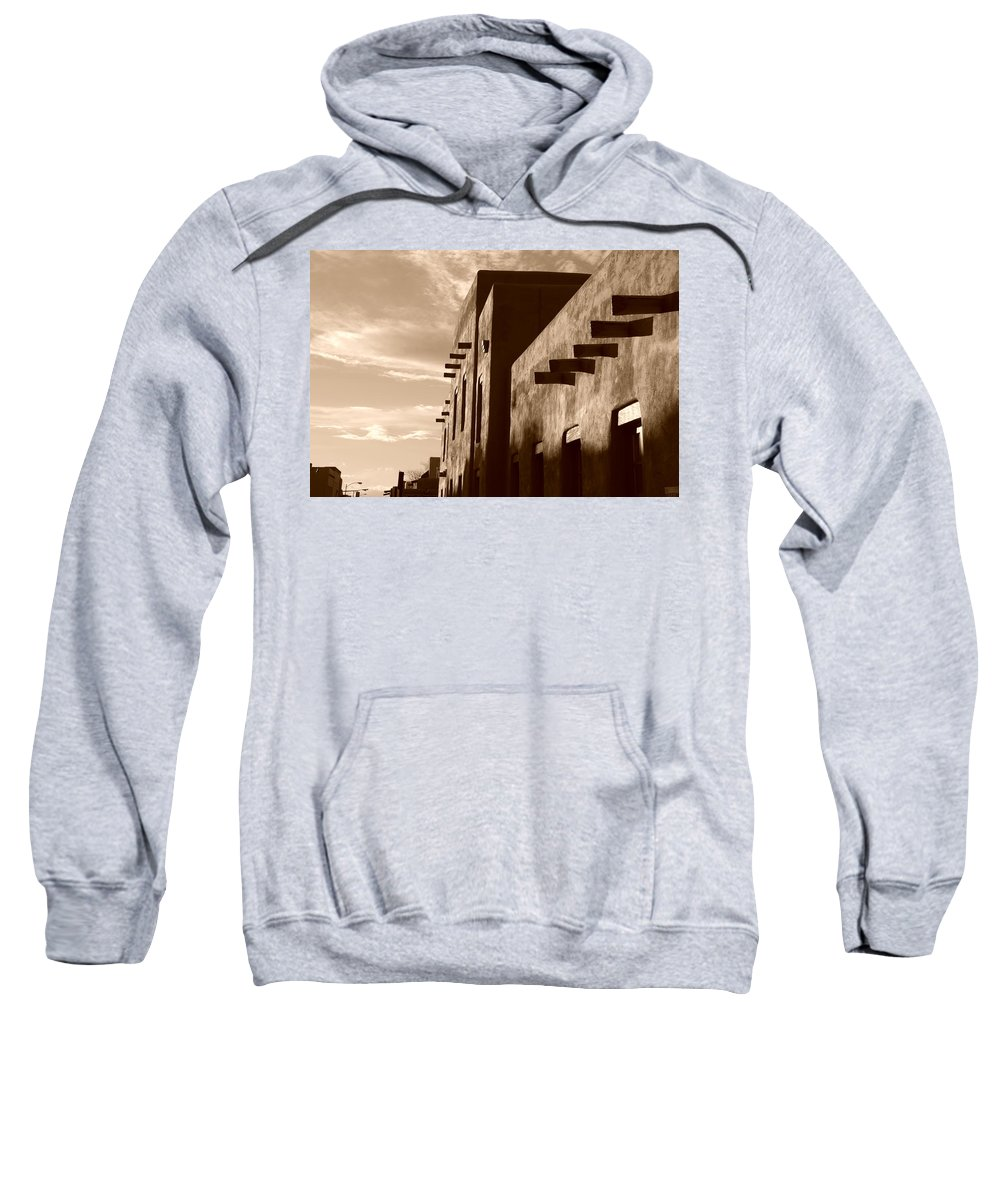 Architecture Sweatshirt featuring the photograph Adobe Sunset by Rob Hans