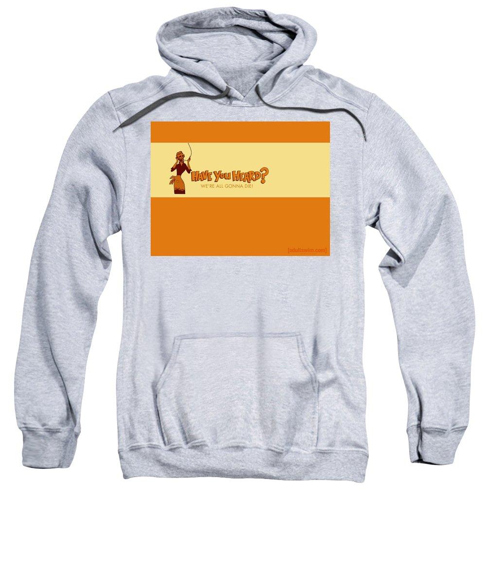 Adult Swim Sweatshirt featuring the digital art Adult Swim by Mery Moon