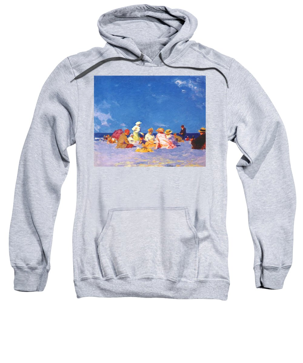Sky Sweatshirt featuring the digital art afternoon fun Edward Henry Potthast by Eloisa Mannion