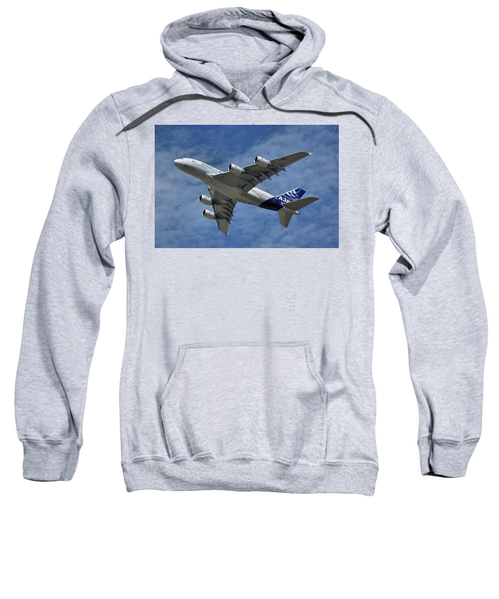 Airbus Sweatshirt featuring the photograph Airbus A380 by Tim Beach
