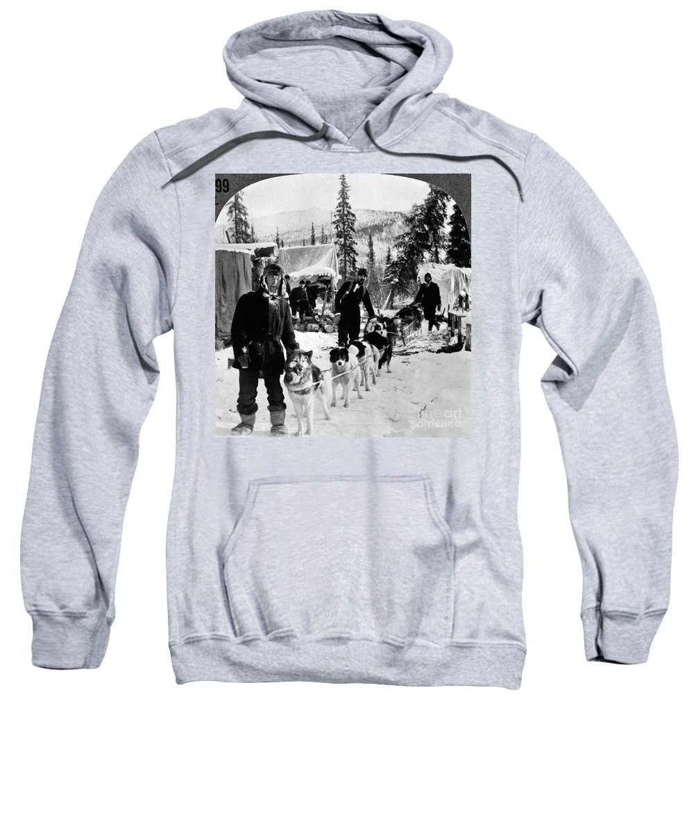 1900 Sweatshirt featuring the photograph Alaskan Dog Sled, C1900 by Granger