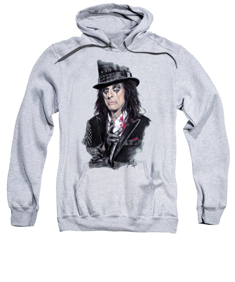 Alice Cooper Sweatshirt featuring the painting Alice Cooper by Melanie D