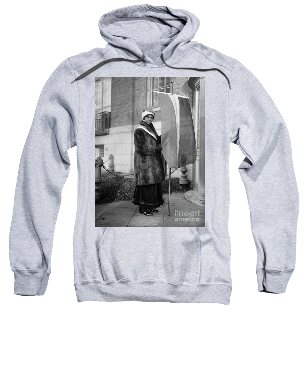 1917 Sweatshirt featuring the photograph Alice Paul (1885-1977) by Granger