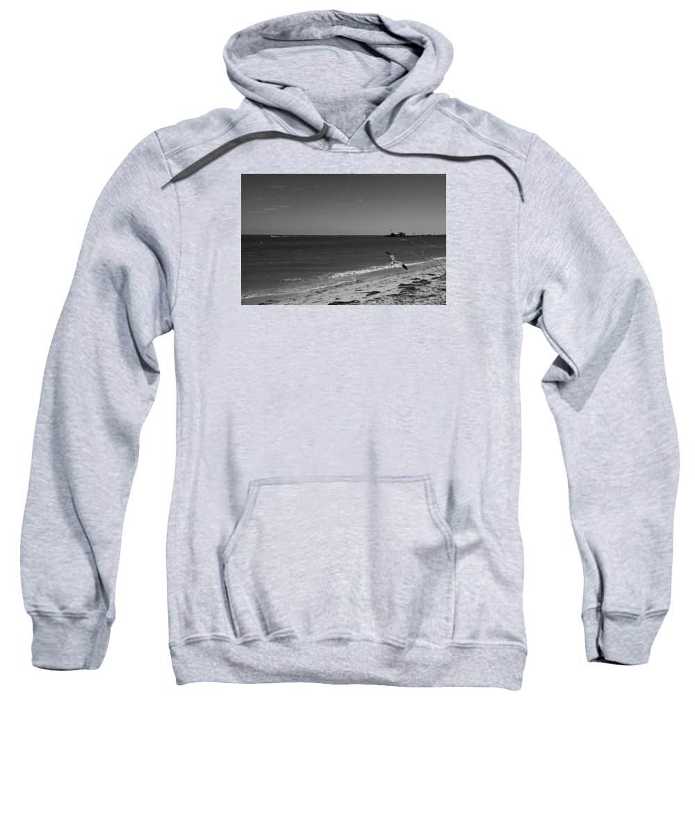 Anna Maria Sweatshirt featuring the photograph Anna Maria Shoreline by Michiale Schneider