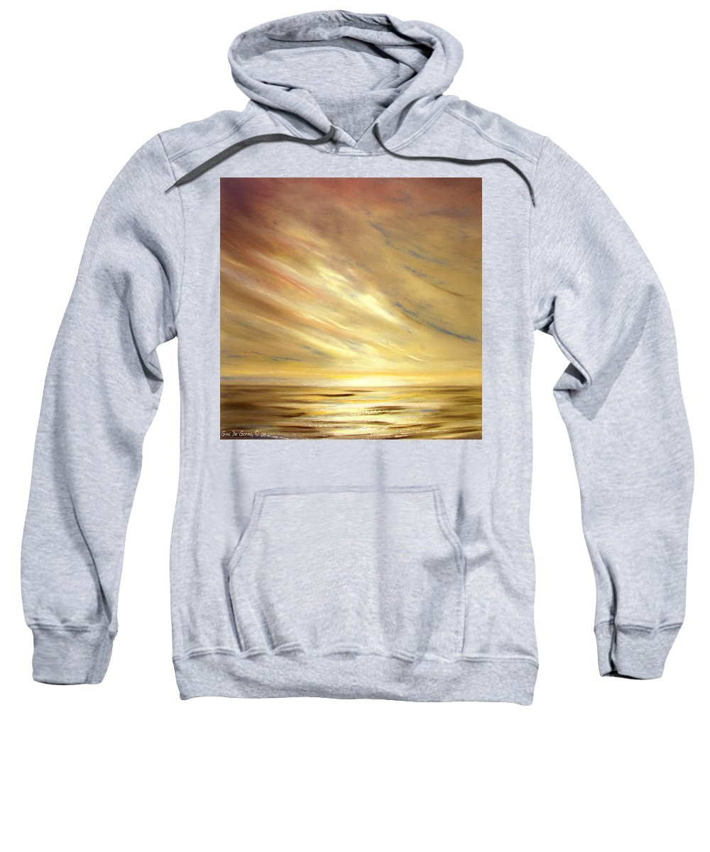 Gold Sweatshirt featuring the painting Another Golden Sunset by Gina De Gorna