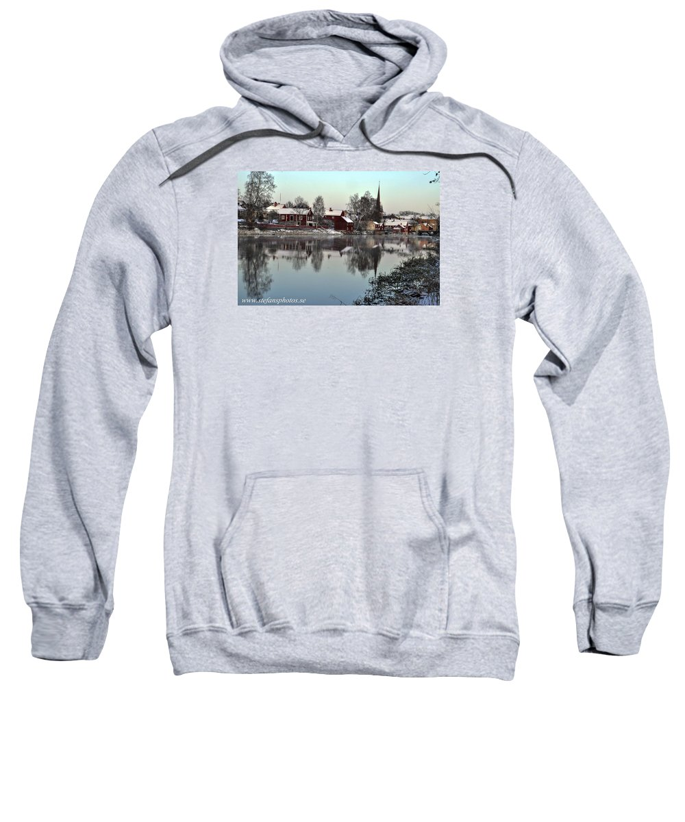 Sweatshirt featuring the photograph Arboga Town by Stefan Pettersson