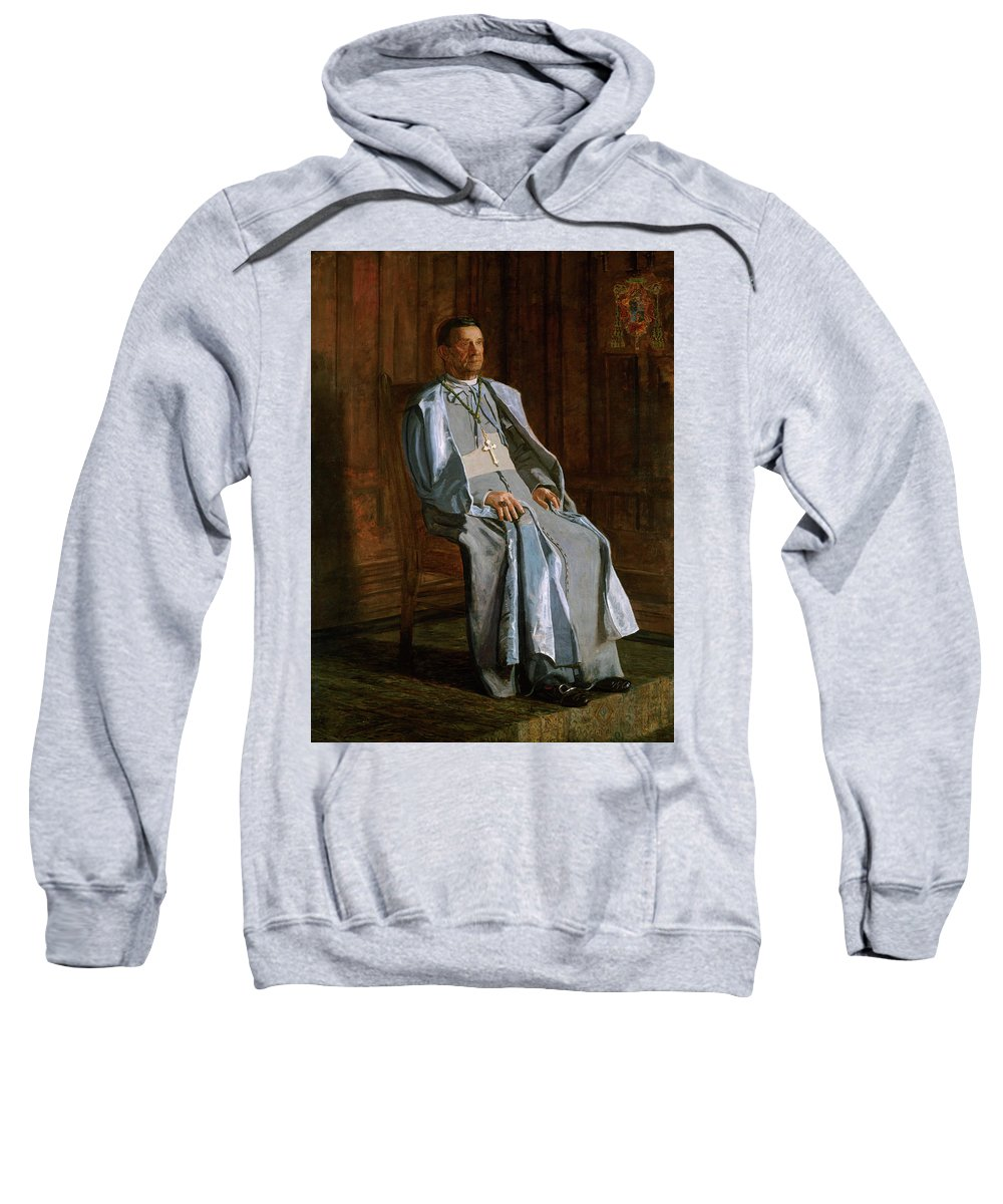 America Sweatshirt featuring the painting Archbishop Diomede Falconio by Thomas Eakins