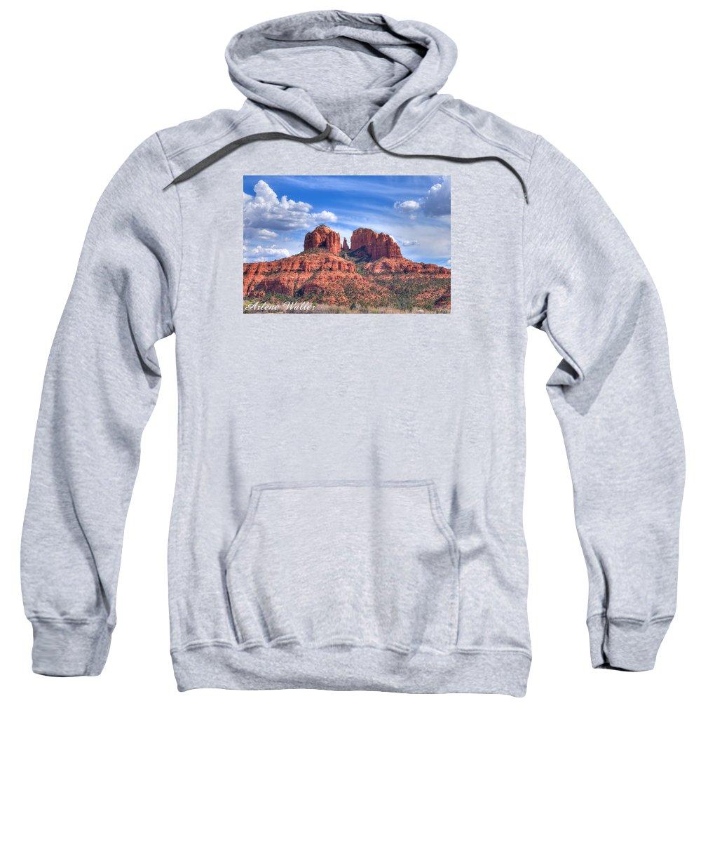 Arizona Sweatshirt featuring the photograph Arizona-sedona-red Rock State Park by Arlene Waller