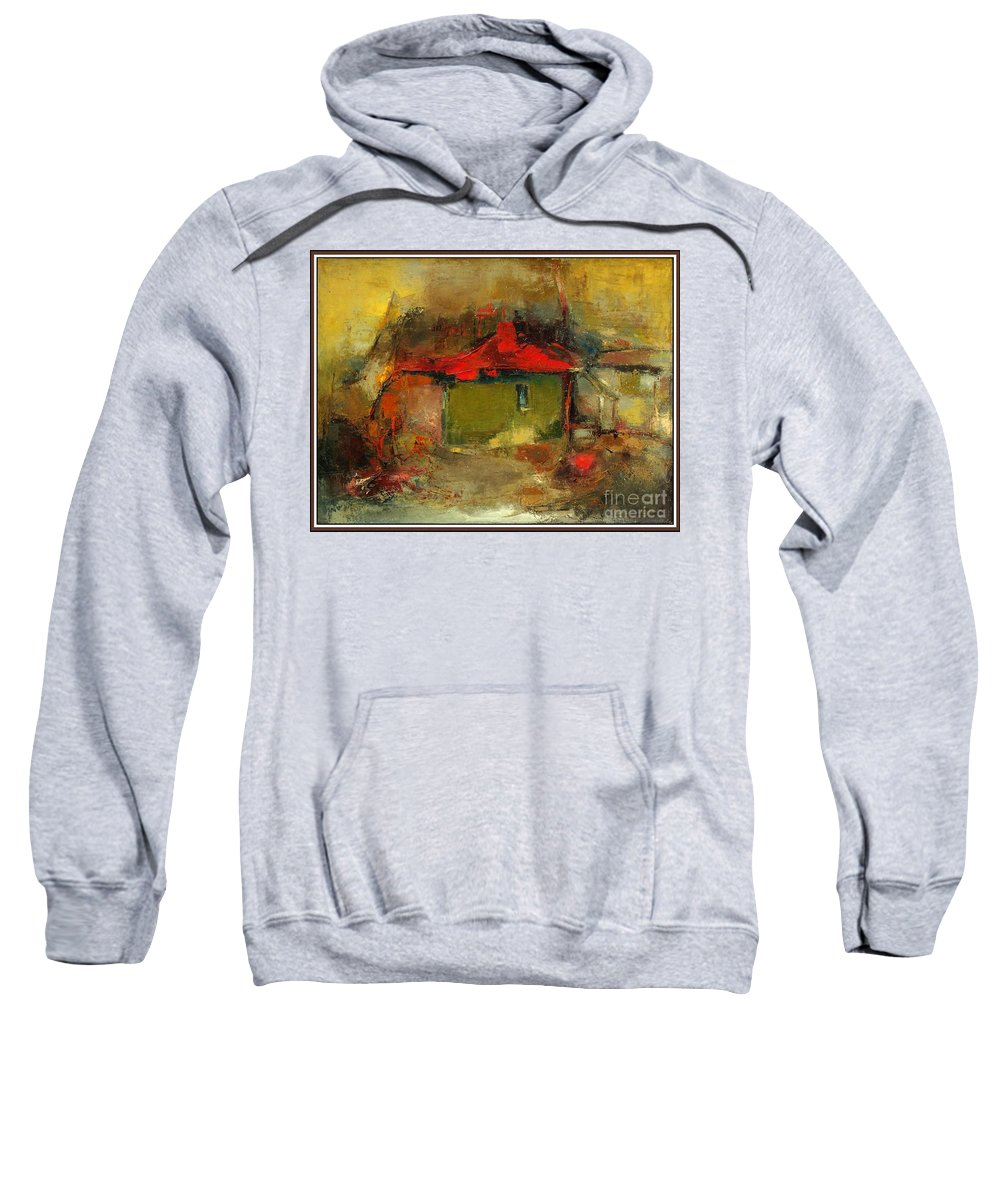 Landscape Sweatshirt featuring the painting Autumn Rhapsody by Pemaro