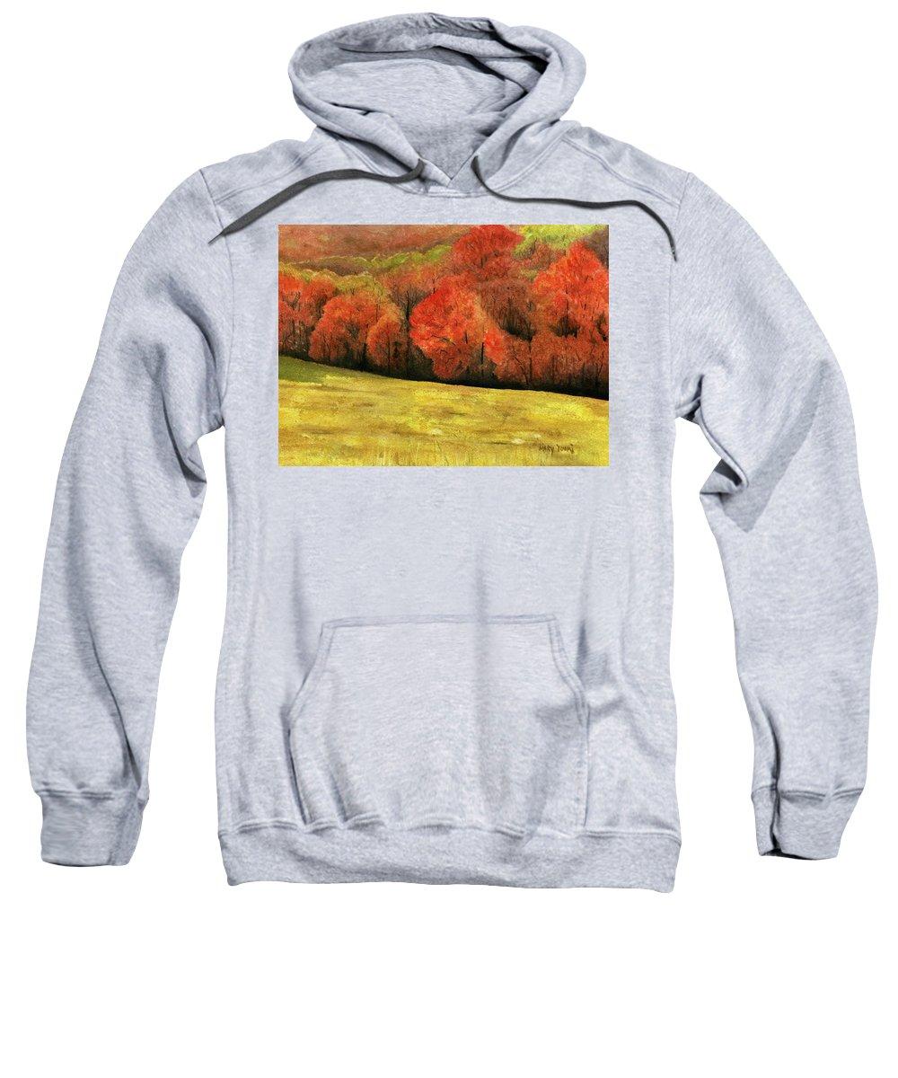 Autumn Sweatshirt featuring the painting Autumn Splendor by Mary Tuomi