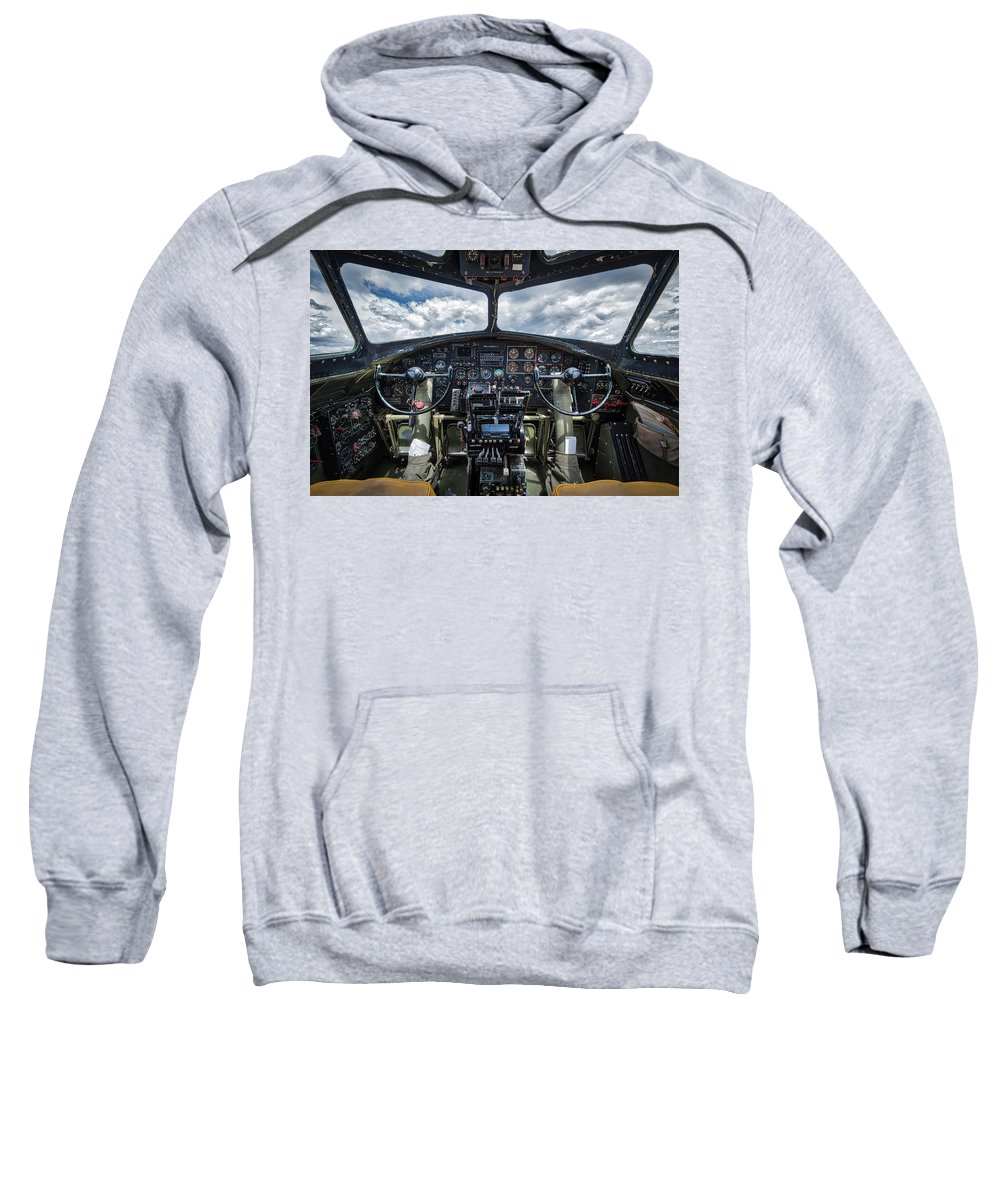 B17 Sweatshirt featuring the photograph B-17 Flying Fortress by Mike Burgquist