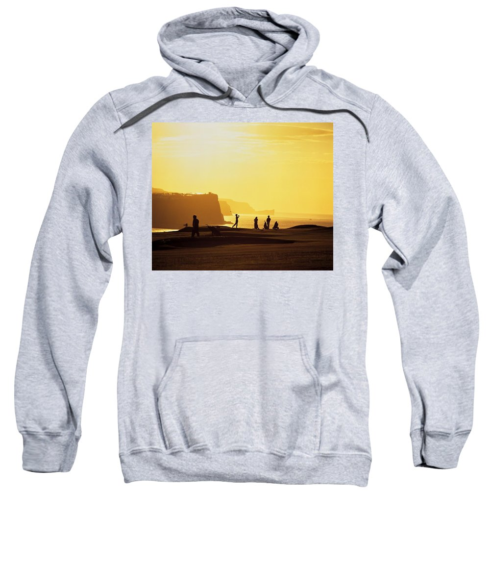 Antrim Coast Sweatshirt featuring the photograph Ballycastle Golf Club, Co Antrim by The Irish Image Collection
