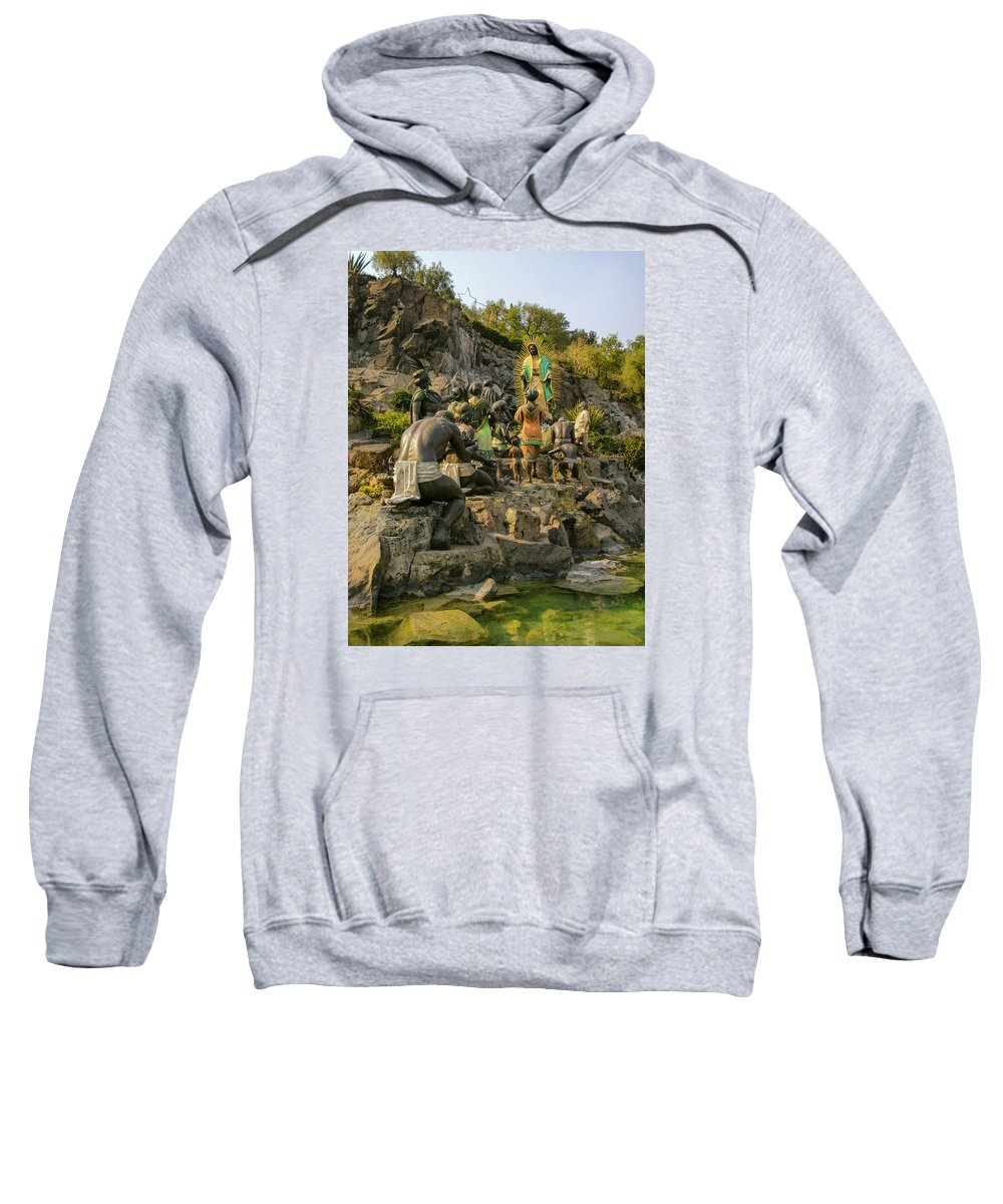 Basilica De Guadalupe Sweatshirt featuring the photograph Basilica De Guadalupe 6 by Totto Ponce