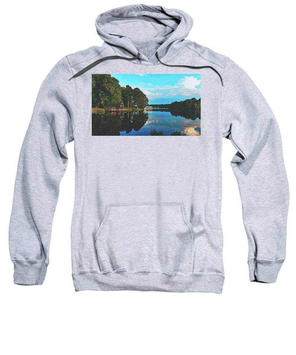 Bunn Lake Sweatshirt featuring the photograph Beautiful Bunn Lake - Zebulon, North Carolina by Library Of Congress