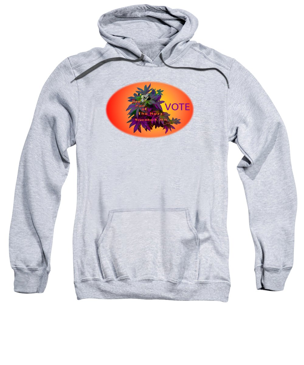 Bee Part Of The Buzz Sweatshirt featuring the photograph Bee Part Of The Buzz by Mike Breau