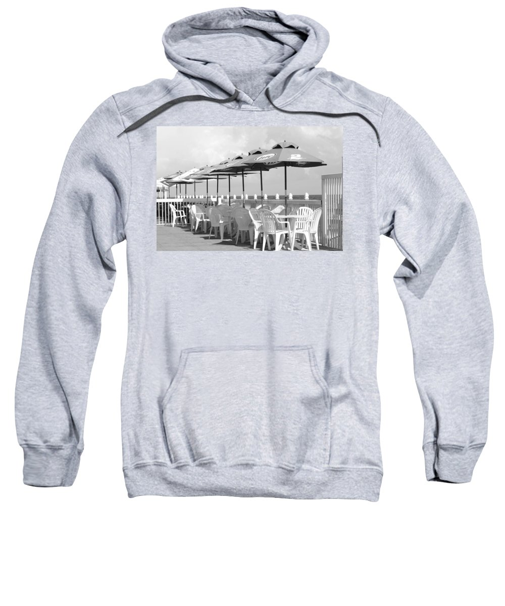 Black And White Sweatshirt featuring the photograph Beer Unbrellas by Rob Hans