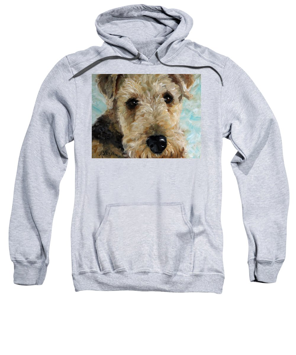 Art Sweatshirt featuring the painting Best Friend by Mary Sparrow