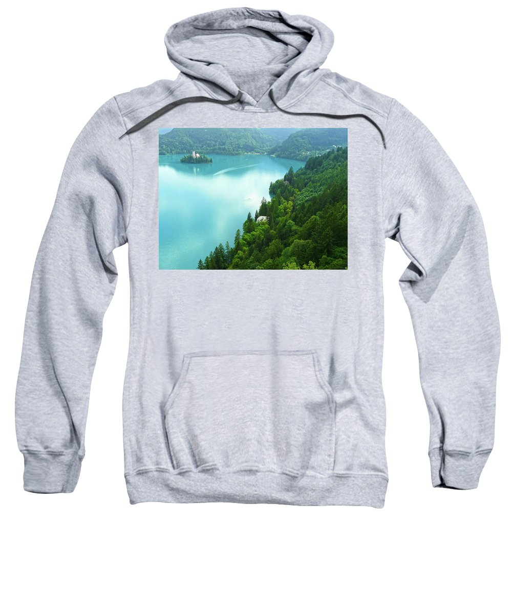Island Sweatshirt featuring the photograph Bled by Daniel Csoka