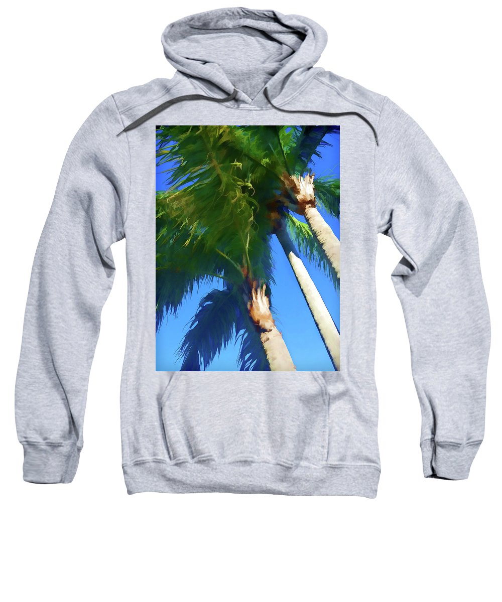 Trees Sweatshirt featuring the photograph Blowing In The Wind by Jennifer Stackpole