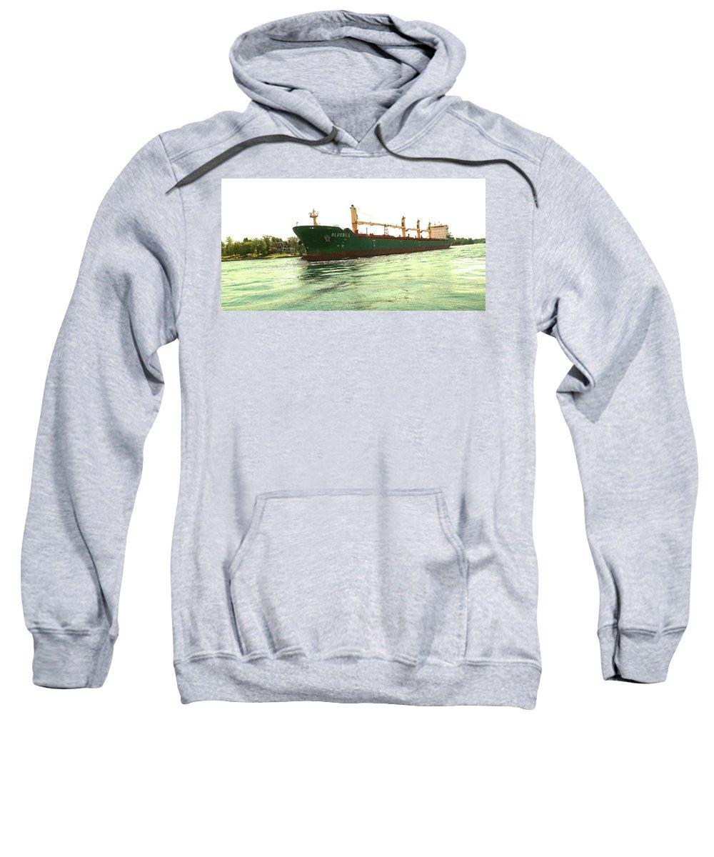 Summer  Sweatshirt featuring the photograph Bluebill 6 by Joseph F Safin