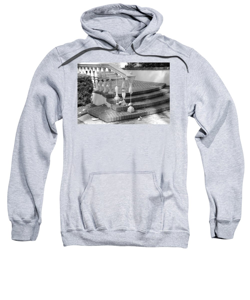 Street Scene Sweatshirt featuring the photograph Broken Rail by Rob Hans