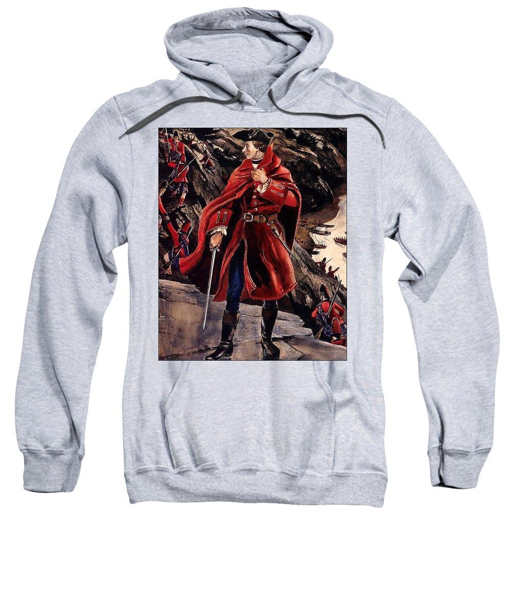 Costume Sweatshirt featuring the digital art bs-ahp- Andrew Wyeth- The British Way Andrew Wyeth by Eloisa Mannion