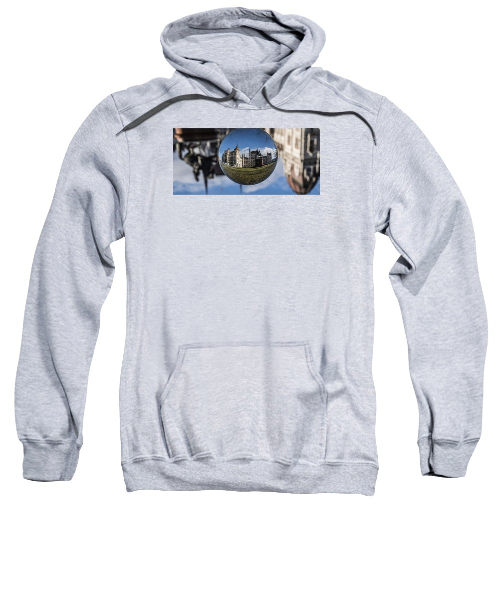 Budapest Sweatshirt featuring the photograph Budapest Globe - Houses Of Parliament by Gabor Tokodi