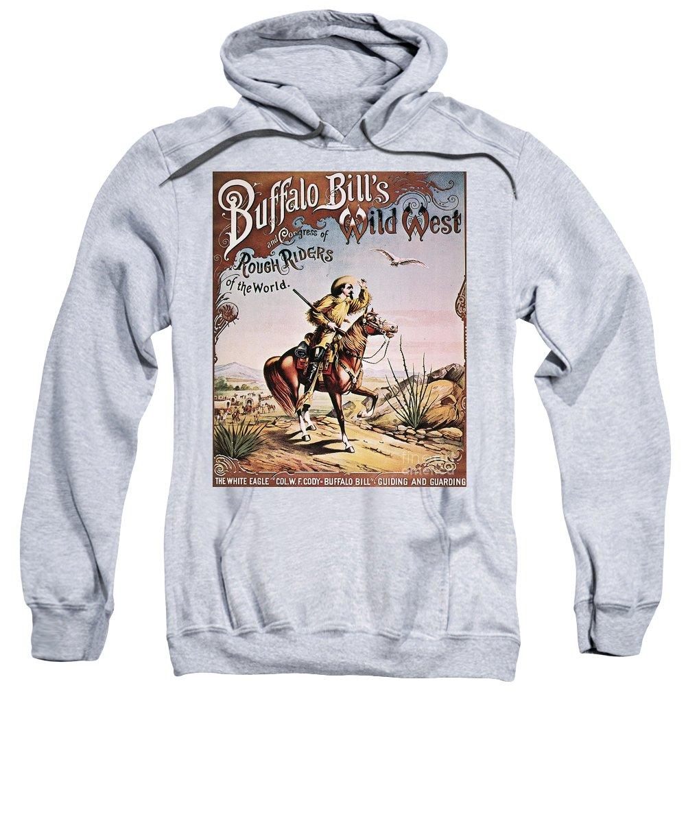 1893 Sweatshirt featuring the photograph Buffalo Bill: Poster, 1893 by Granger