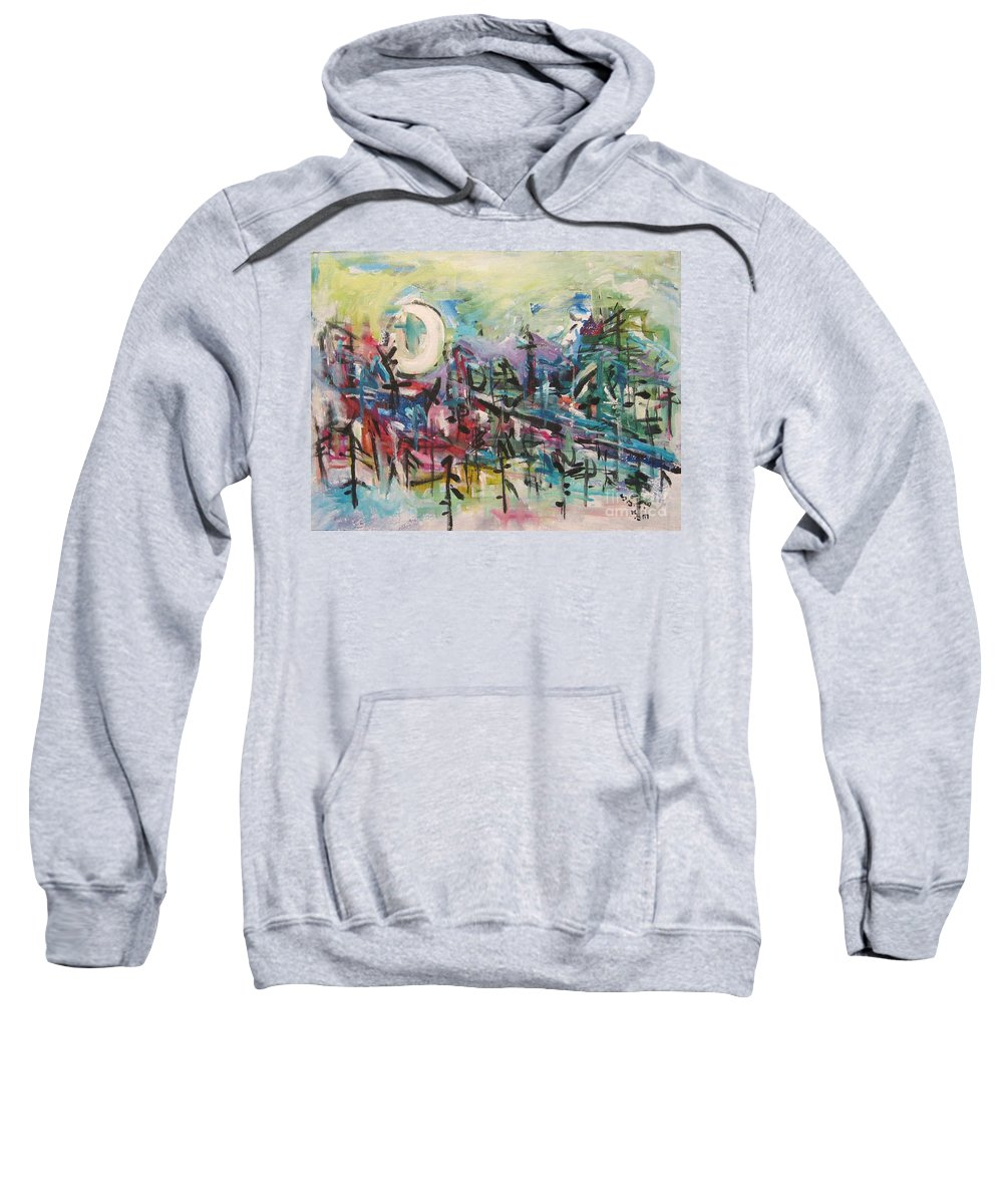Abstract Paintings Sweatshirt featuring the painting Bummer Flat2 by Seon-Jeong Kim
