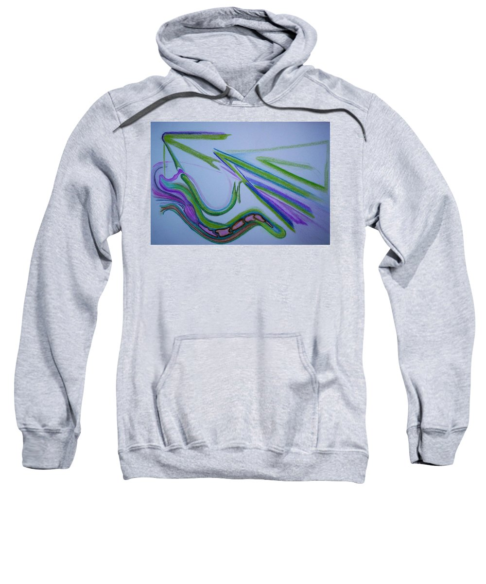 Abstract Sweatshirt featuring the drawing Canal by Suzanne Udell Levinger