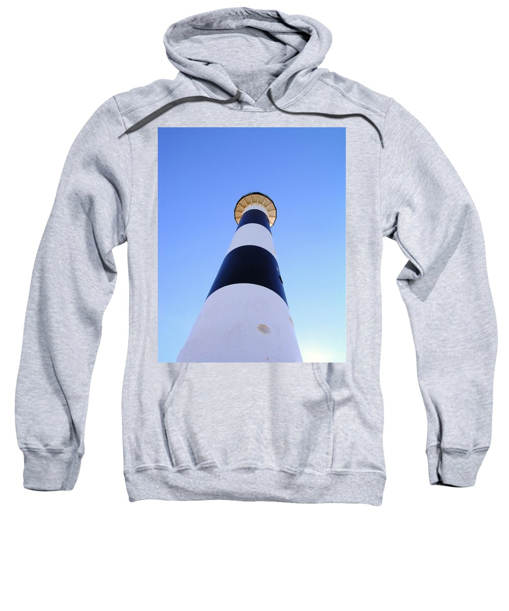 Cape; Canaveral; Light; Lighthouse; Lighthousekeeper; Keeper; Stairs; Kennedy; Space Center; Air For Sweatshirt featuring the photograph Canaveral Light by Allan Hughes