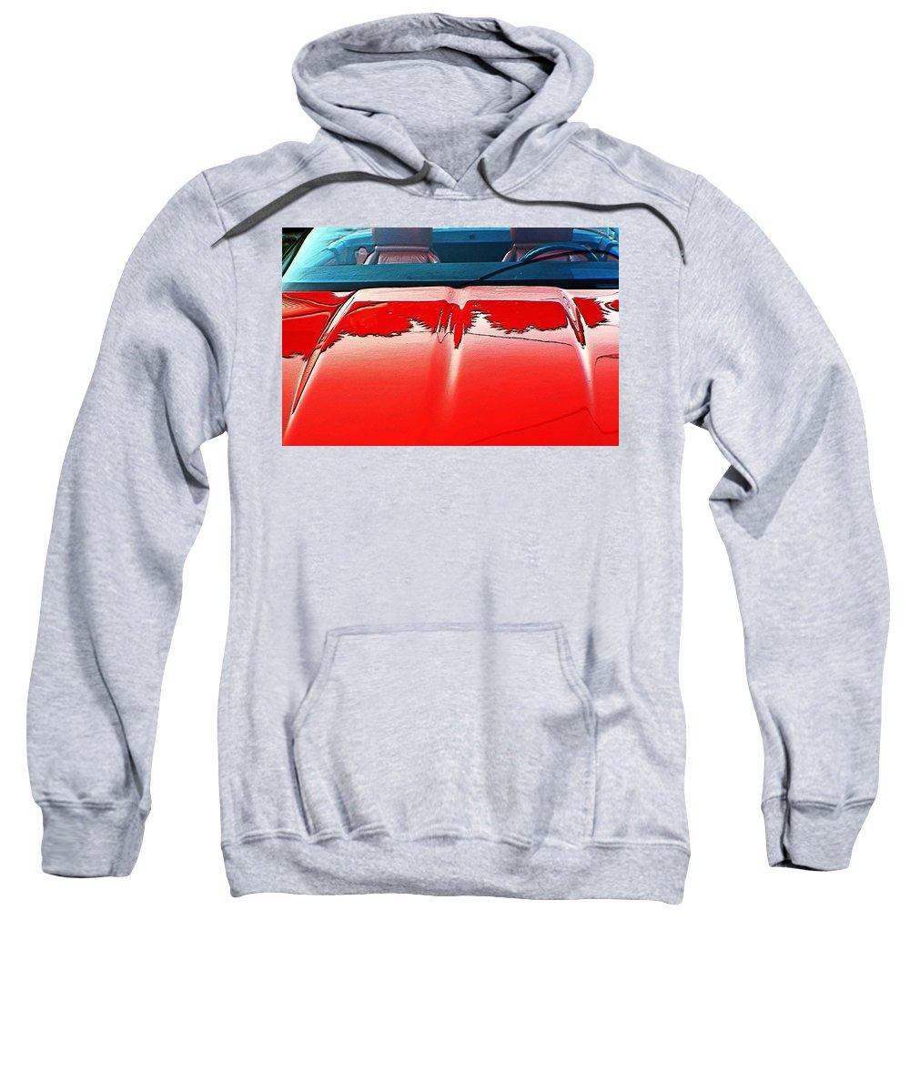 Cars Sweatshirt featuring the digital art Car Hood Reflection Bump Map by Karl Rose