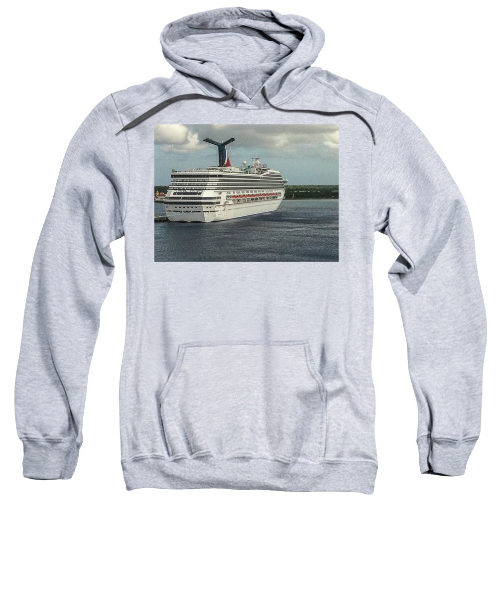 This Is A Photo Of The Carnival Triumph Docked In Mexico. Sweatshirt featuring the photograph Carnival Triumph by William Rogers