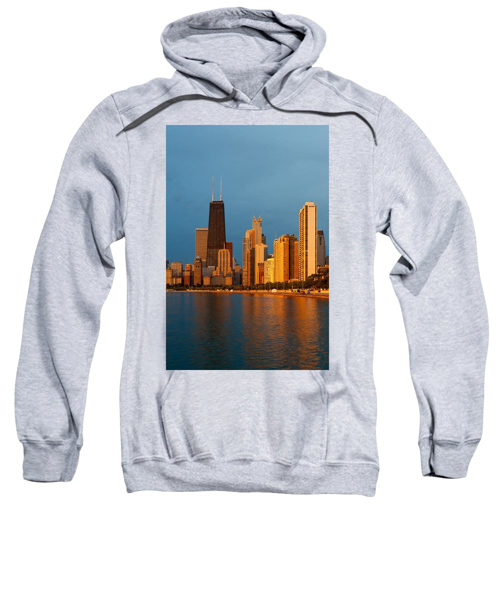 Chicago Sweatshirt featuring the photograph Chicago Skyline by Sebastian Musial