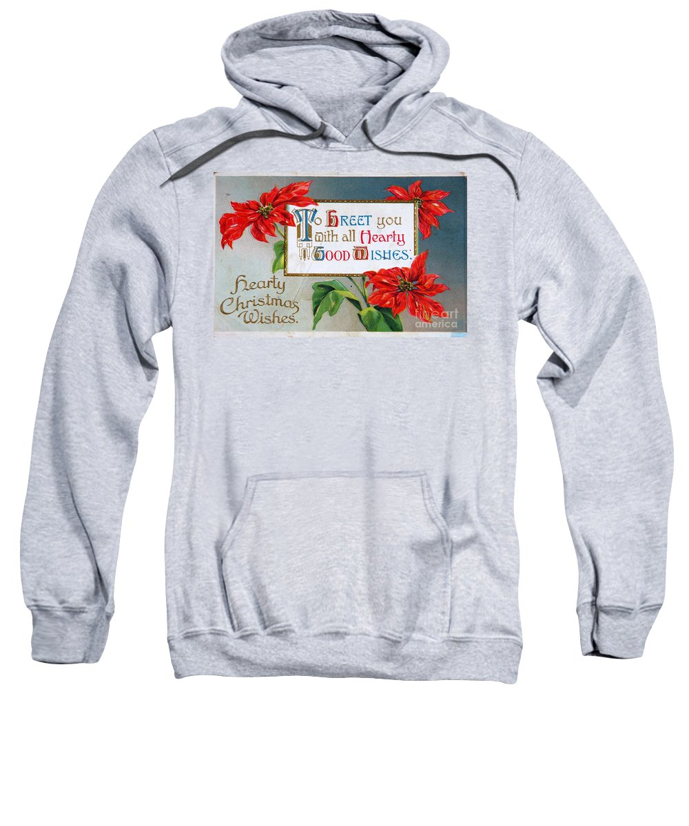 Holiday Sweatshirt featuring the photograph Christmas Postcard by Kevin Bohner