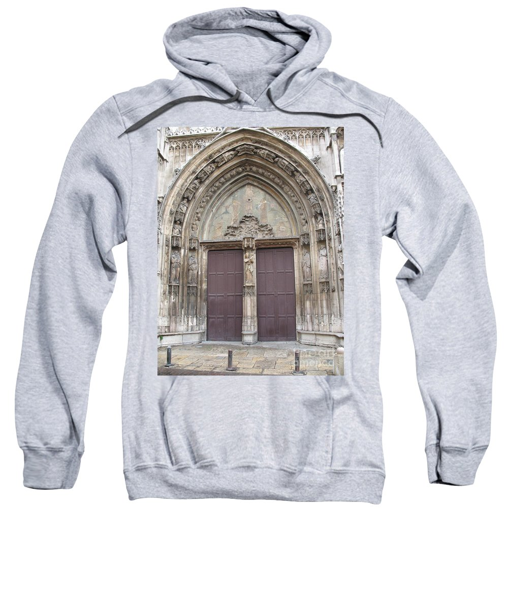 Church Sweatshirt featuring the photograph Church Entrance by Christiane Schulze Art And Photography