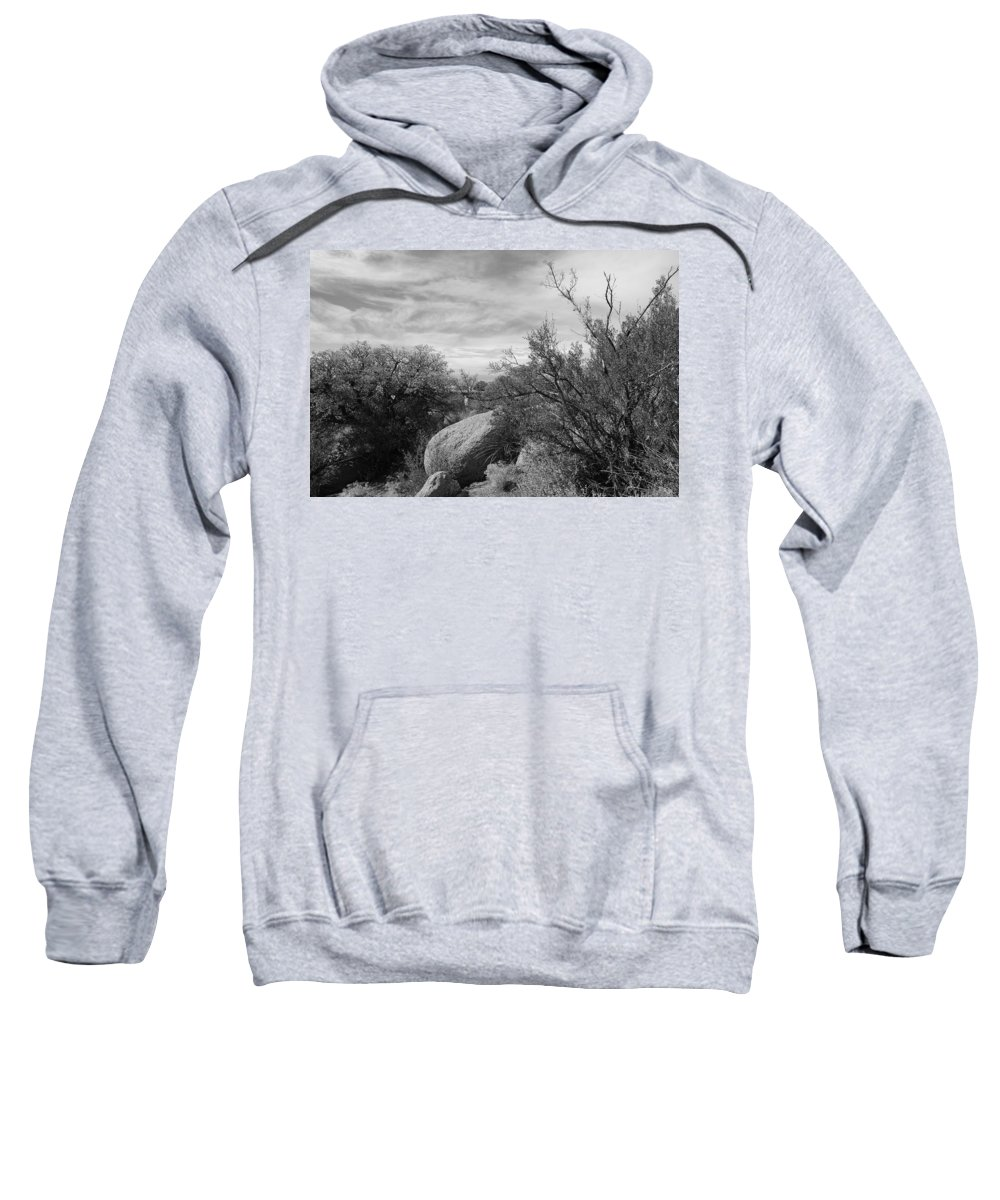 Black And White Sweatshirt featuring the photograph Cibola National Forest by Rob Hans