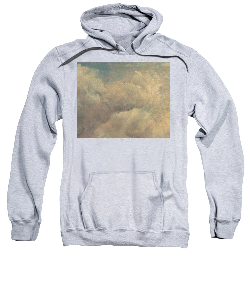 English Romantic Painters Sweatshirt featuring the painting Cloud Study by John Constable