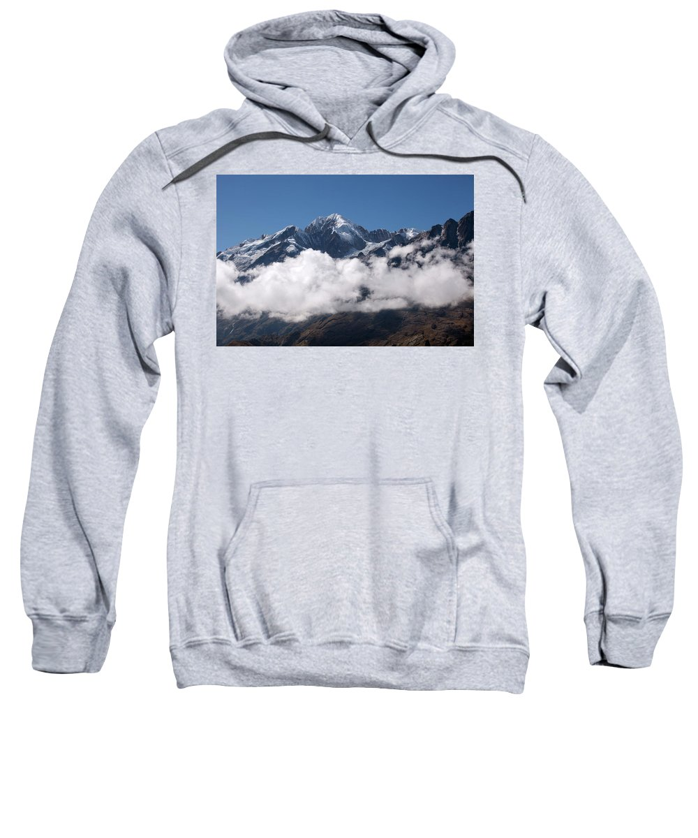 Cordillera Real Sweatshirt featuring the photograph Cordillera Real And Illampu by Aivar Mikko