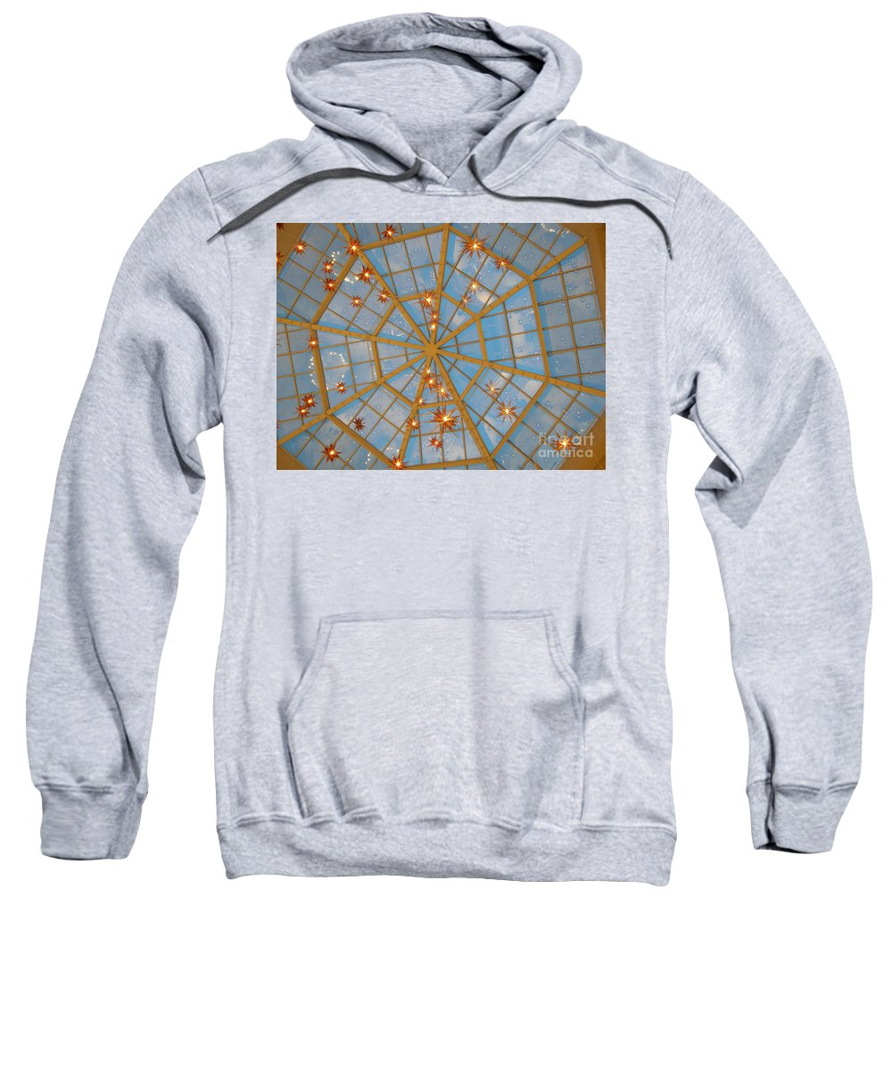 Glass Sweatshirt featuring the photograph Crystal Web by Maria Bonnier-Perez