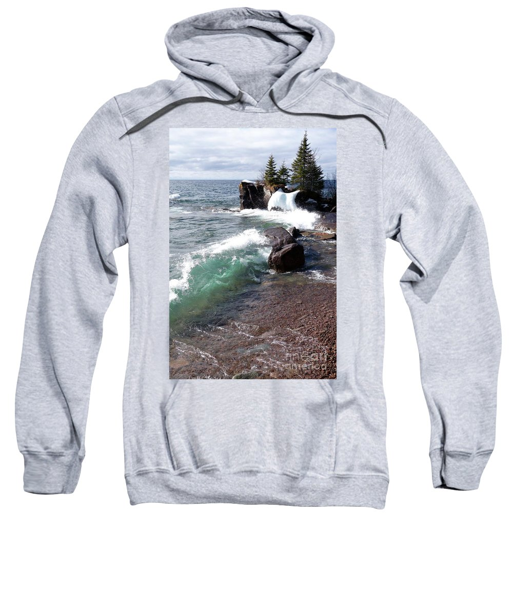 Waves Sweatshirt featuring the photograph Dancing Waves by Sandra Updyke