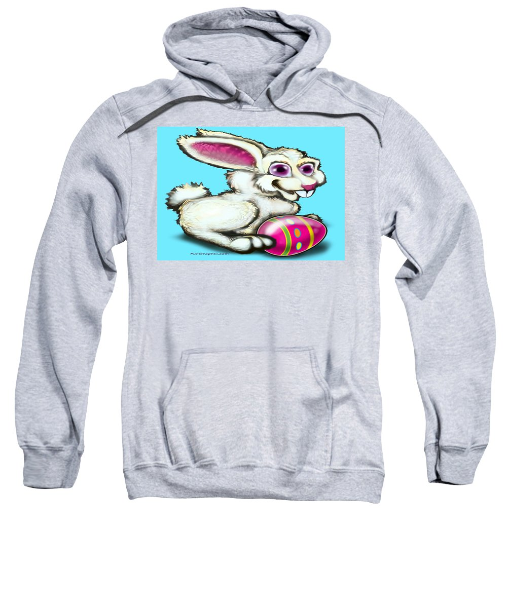 Easter Sweatshirt featuring the digital art Easter Bunny by Kevin Middleton
