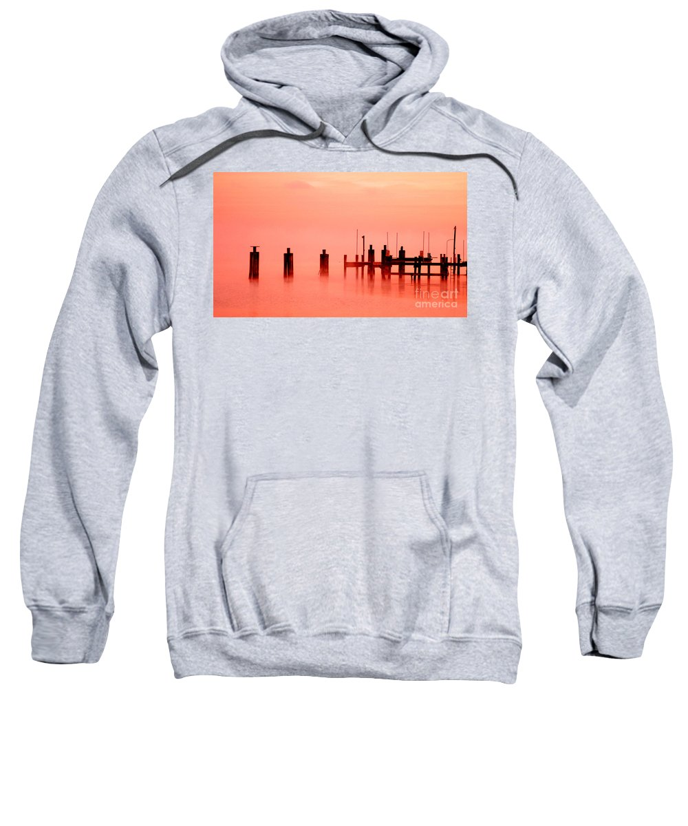Clay Sweatshirt featuring the photograph Eery Morn' by Clayton Bruster