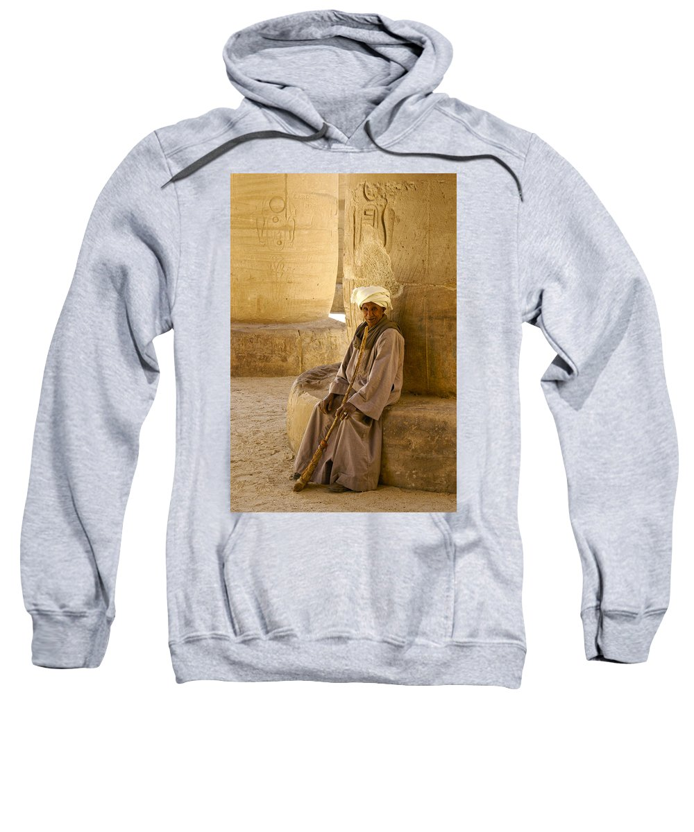 Egypt Sweatshirt featuring the photograph Egyptian Caretaker by Michele Burgess