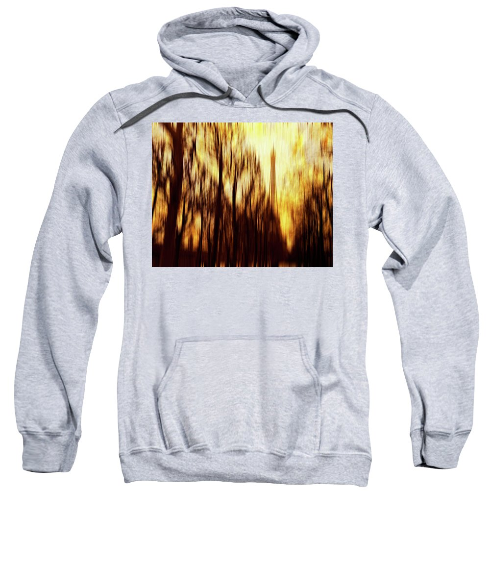 Abstract Color Sweatshirt featuring the photograph Eiffel Tower by Skip Nall