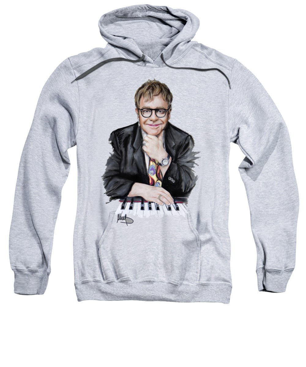 Elton John Hoodie Mens Most Popular Hoodie Casual Fashion Black