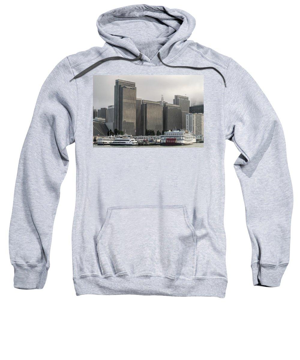 Embarcadero Center Sweatshirt featuring the photograph Embarcadero Center Buildings In San Francisco, California by David Oppenheimer
