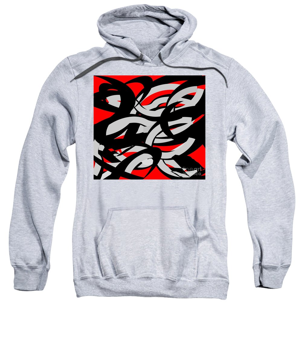 Abstract Art Sweatshirt featuring the painting Entangled by Belinda Threeths