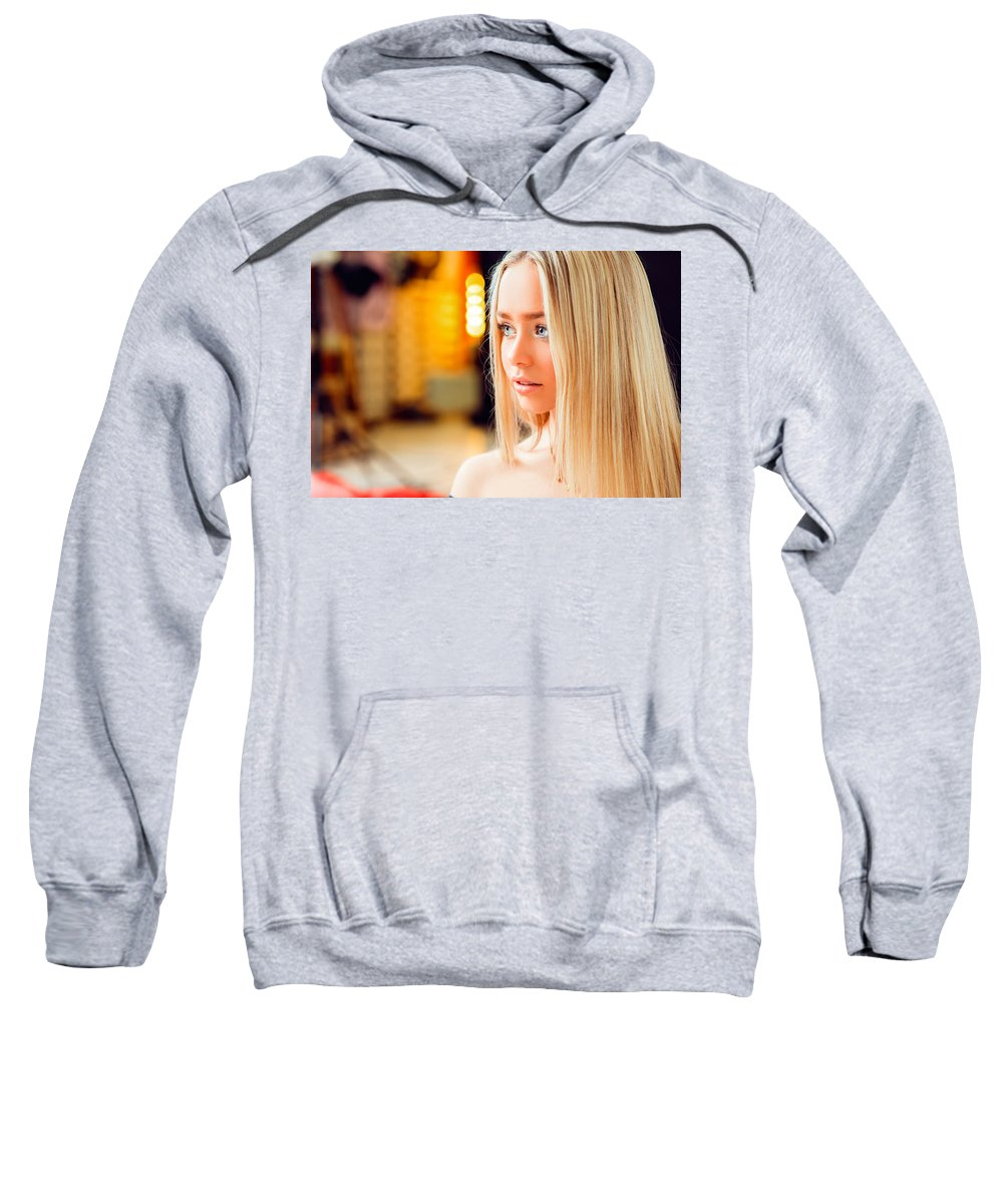 Face Sweatshirt featuring the digital art Face by Bert Mailer
